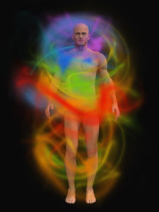 aura energy around a man's body